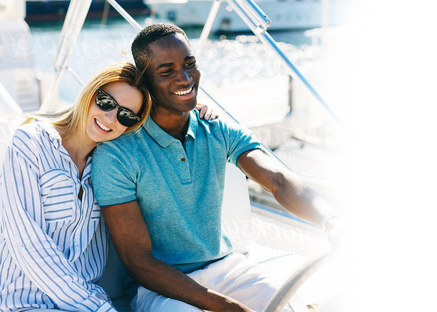 photo of couple in yatch